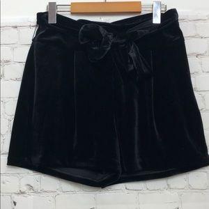 High-Rise Express Velour Dressy Shorts w/Belt